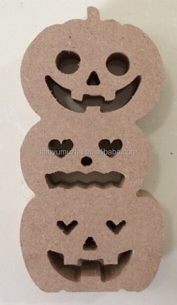 Factory laser cut pumpkin halloween wooden ornaments craft