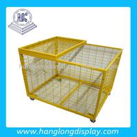 Supermarket Warehouse Metal Cage Foldable Pallet Storage Cage