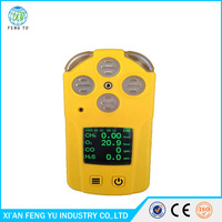 Handheld multi gas detector , air quality monitor for co2 and o2 and other toxic gases