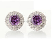 nickel free jewelry crystal zircon stud earrings
