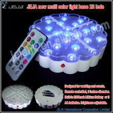Battery operated Mini 4/6/8 inch SMD LED Base Lights/RGB party light base for all event celebrations
