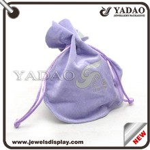 Jewelry Pouches Velvet Pouch Gift Bags Rope Drawstring Named brand Jewelry Bags