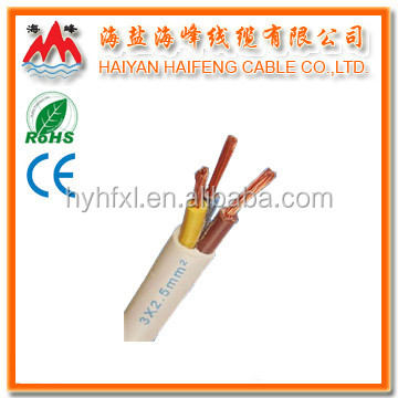 3-core PVC insulated Flexible Cable 1mm