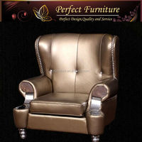 PFS2120S Monarchy wood carved furniture single sofa furniture italy sofa furniture