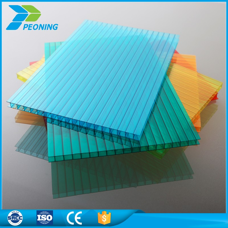 Polycarbonate Hollow sun shade protection pc sheet for house