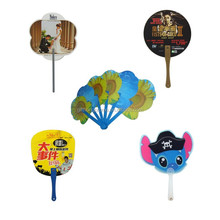Cheap give away custom logo branded PP plastic hand Fan for advertisement promotional gift