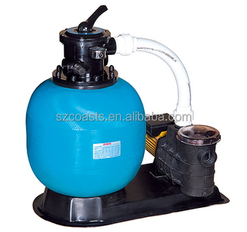 Big Sand Filter on the Side for swimming pool
