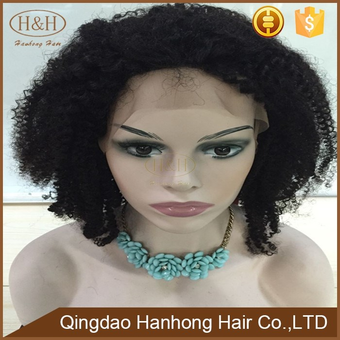 China wholesale cheap remy brazilian human hair short curly wig in dubai for black women