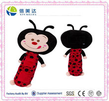 plush ladybug seat belt pet toy
