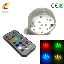 10 LED Multicolor Submersible Waterproof Remote Control RGB Vase Light 20key Remote