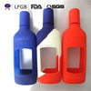 Promotional low price popular heat resistance silicone wine bottle cooler sleeve