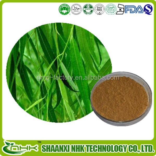 Antipyretic and anti-rheumatism white willow bark extract salicin powder