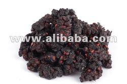 Dried organic black mulberries