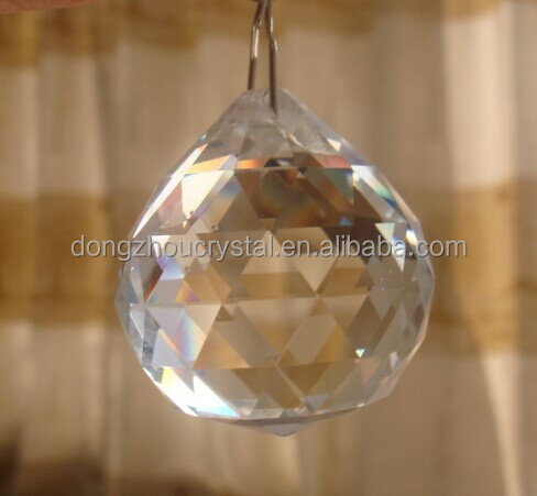 Chandelier Crystal Fengshui Stone Trimming 30mm
