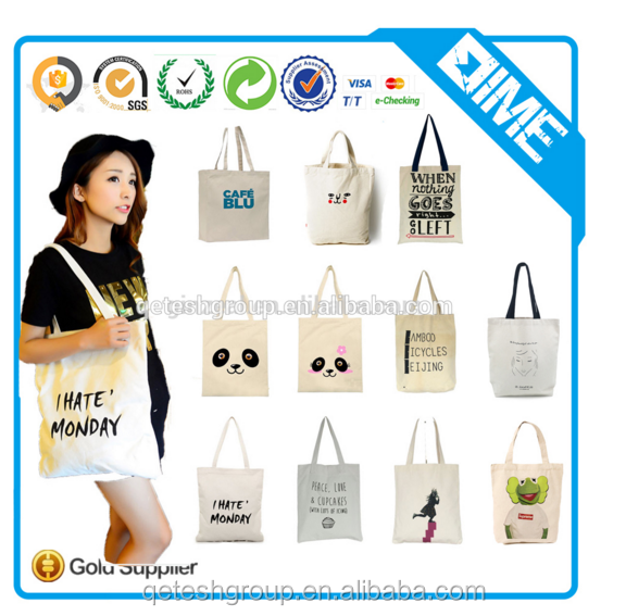 new design Promotion Customized Printed Cotton women Handbag