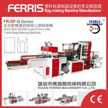 Two Layer 4 Lines Plastic Bag Making Machinery