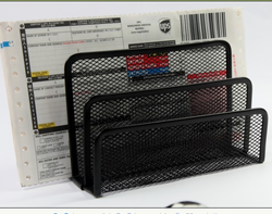Metal Mesh office Desktop Paper Sorter Letter Holder Organizer