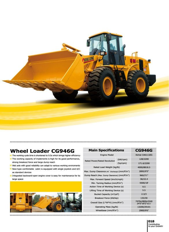 CG946G - 2.3cubic Pay Loader