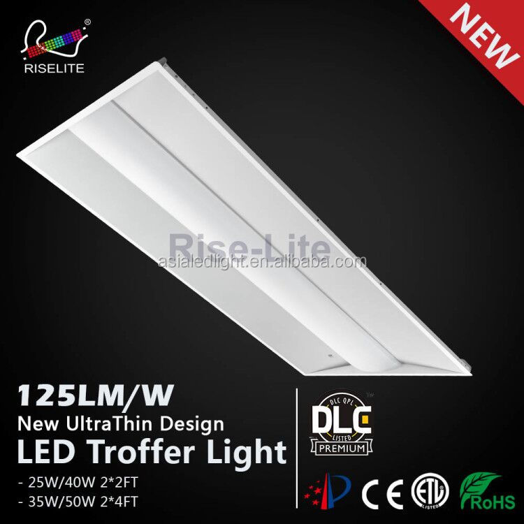 130lm/w DLC4.0 premium 2X4 dimmable LED Troffer retrofit kit light with emergency driver and PIR sensor