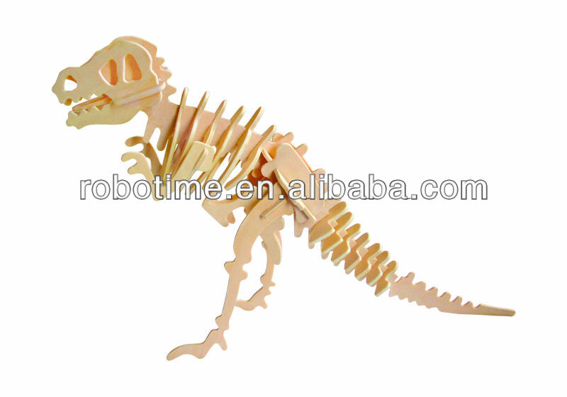 Robotime DIY educational wooden puzzle dinosaur toy