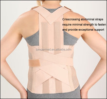 Two metal stays in back, warm, comfortable, clavicle splint, warm posture brace, abdominal straps brace