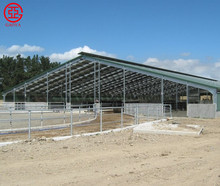 Low cost steel structure poultry dairy cow shed