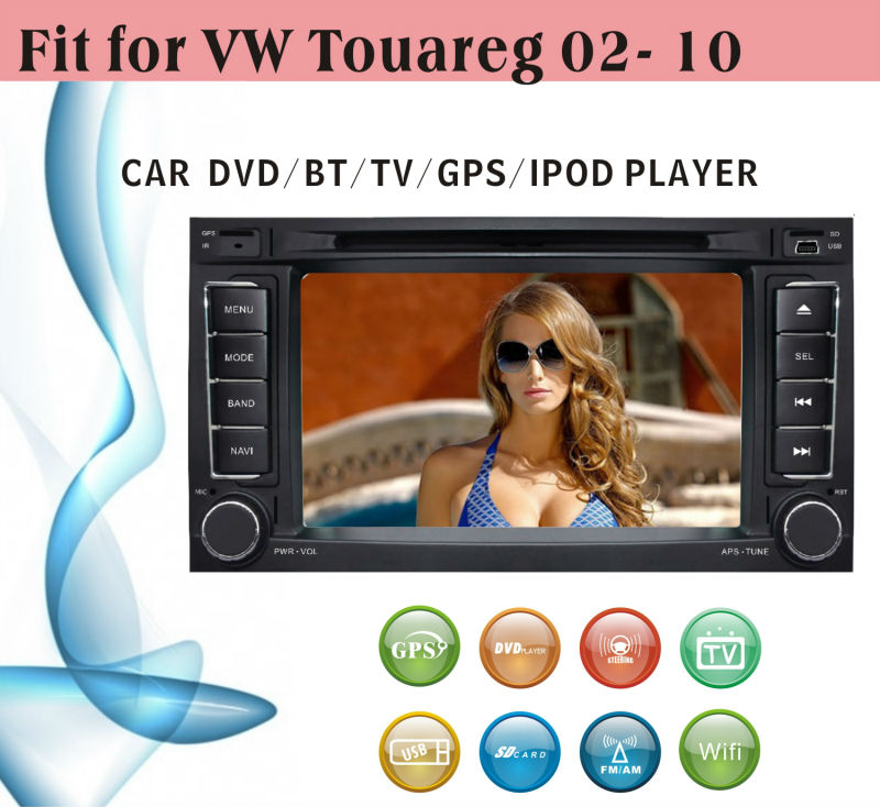 android car dvd player fit for VW Touareg 2002 - 2010 with radio bluetooth gps tv