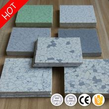 Low cost moisture-proof anti static vinyl tile flooring with ce/iso