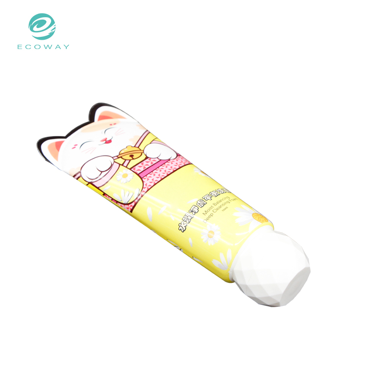 100ml Plastic cosmetic pp cap face wash packaging tube with special  sealing
