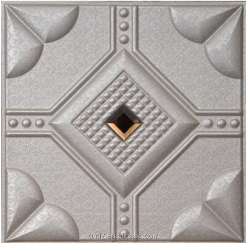 400x400mm High Quanlity and Elegant 3D PU Leather Carved Aluminum Ceiling (DG4040PW010)