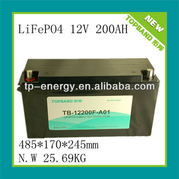 High quality 12v/12.8v 200ah/125ah/100ah LFP/lithium batteries for energy storage