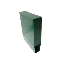 High Quality Green Steel Waterproof Mail Box With Newspaper Holder
