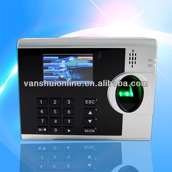 Biometric fingerprint employee time attendance machine support TCP/IP