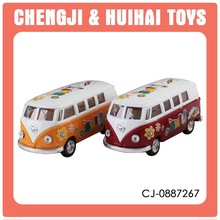 2016 pull back toy 1:32 scale mini diecast model buses