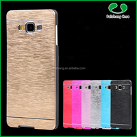 Factory cheap price durable TPU PC Aluminum Hard Brushed Metal Bumper Mobile Phone Back Case Cover For Samsung A7