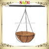 S.D Home & Garden decoration round shaped plastic hanging basket pots for plant