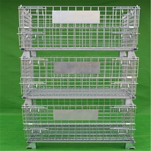 Warehouse Storage Rolling Metal Wire Mesh Container