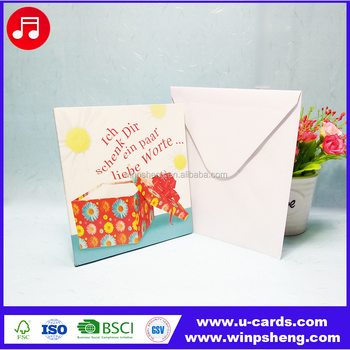 Custom 30 seconds music happy birthday greeting card with sound module