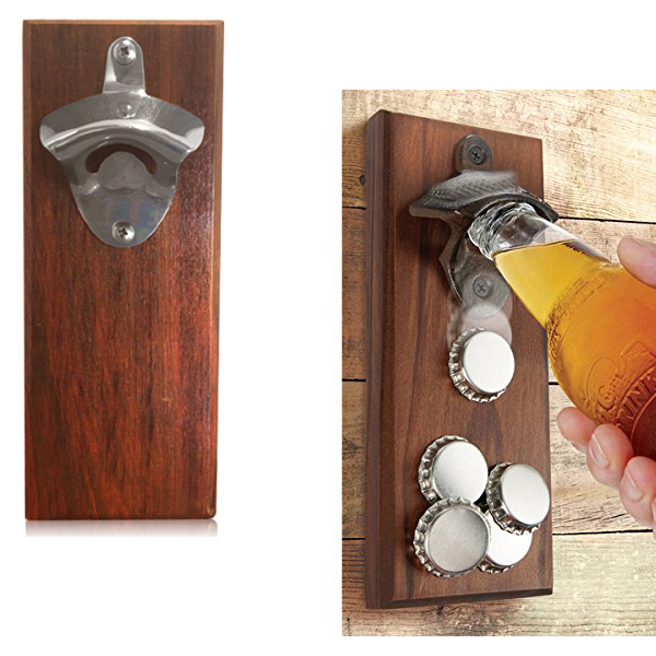 Strong Magnet Refrigerator Beer Botlle Opener with Cap Holder