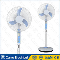 High quality 12V 16 inch fan rechargeable led lamp with fan