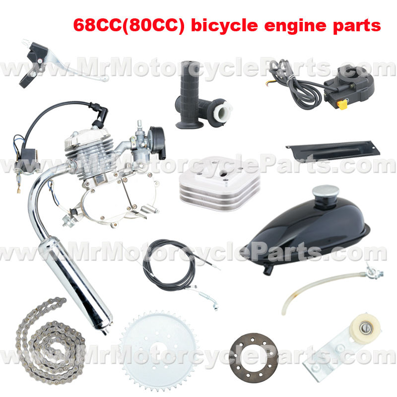 68CC with 45 degree spark position 2 stroke bicycle engine