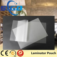 2017 hot sale a3 matte laminating pouch film