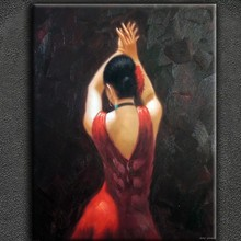 Patelle knife woman canvas oil painting of thick oil