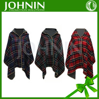 Custom Sublimation printed promotional warm No sleeve cap Polar fleece lady shawl