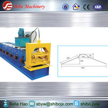 ROOF ridge cap color steel panel cold roll forming machinery & steel sheet roof ridge cap making machine EASY OPERATE