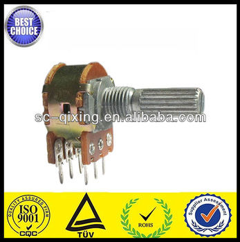 WH148 dual gang potentiometer, 100k audio potentiometer
