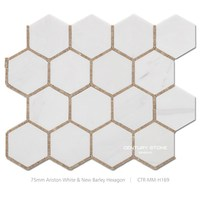 High quality honeycomb building material natural marble stone mosaic tile