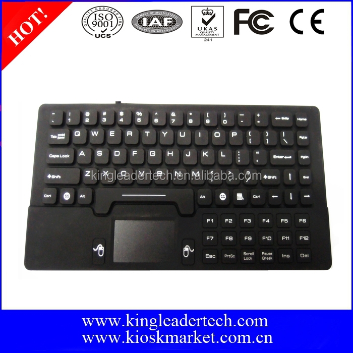 Waterproof & Washable Mini Size Silicone Keyboard With Touchpad