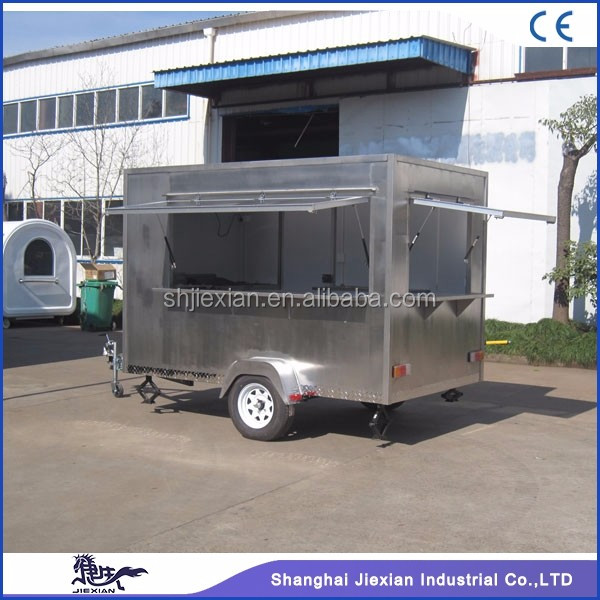 JX-FS300C Stainless Steel Mobile Street Food Vending Cart/breakfast food van/mobile vending trailer