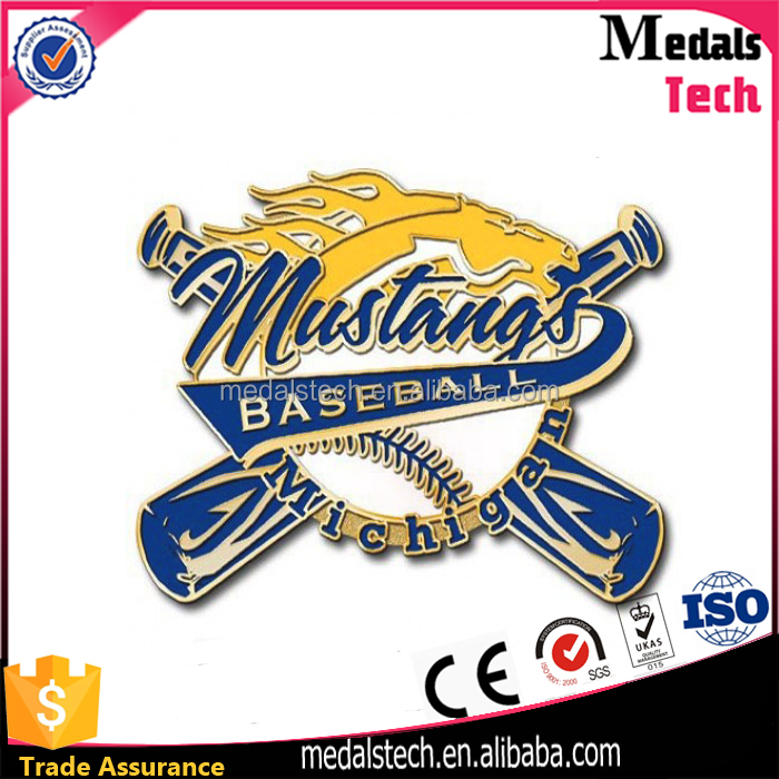 OEM Wholesale custom soft enamel baseball sports lapel pins with magnet